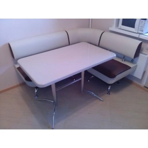 Кухонный стол из искусственного камня Москва-3 бежевый