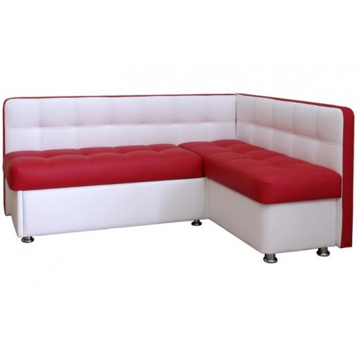 Кухонный уголок со спальным местом Квадро белый с красным