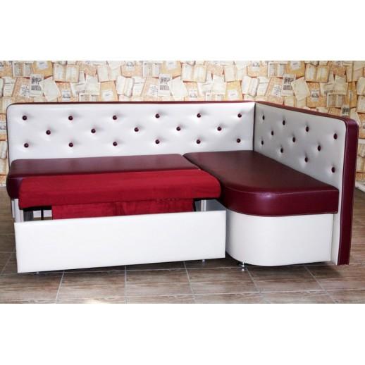 Кухонный уголок со спальным местом Престиж белый с красным