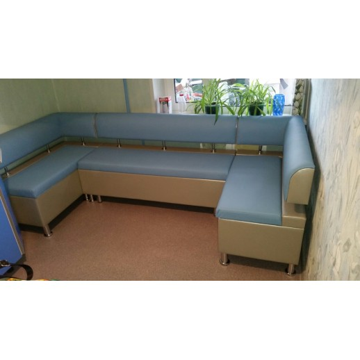 Со спальным местом Милан-4 голубой с металликом