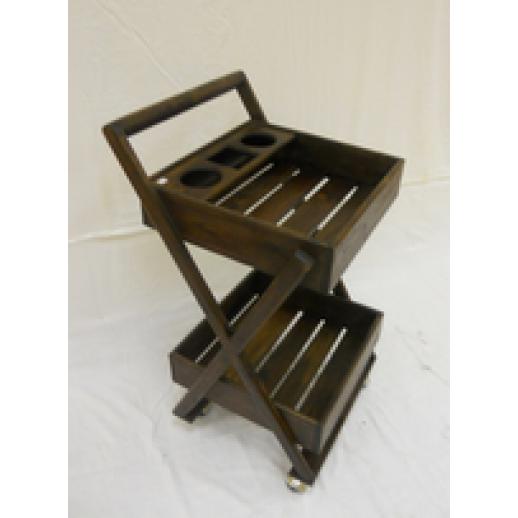 Сервировочный столик из дерева на колесиках 10-46-1200