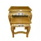 Комплект столиков арт.1-23-1110 (бронза с инкрустацией)ЭТНО