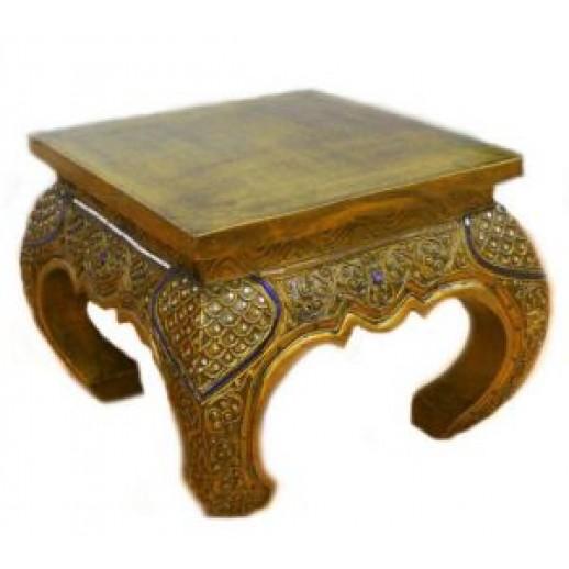 Столик из дерева журнальный с инкрустацией 1-14-850 ЭТНО