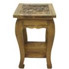 Столик из дерева с резной столешницей арт.21-6-550 ЭТНО