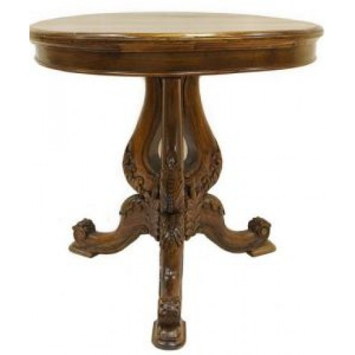 Стол круглый IMG-0740 (тик коричневый) ЭТНО