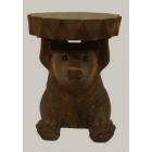 """Табурет из дерева """"Медведь"""" арт.20-58-650 выс.46 ЭТНО"""