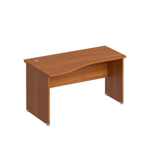 Эргономичный офисный стол левый испанский орех