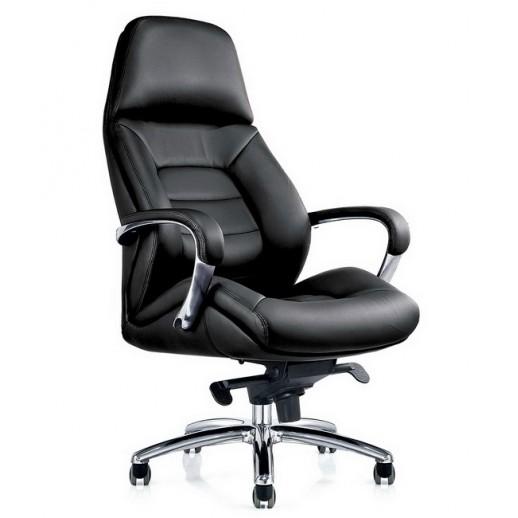 Кресло Grand натуральная кожа / черная
