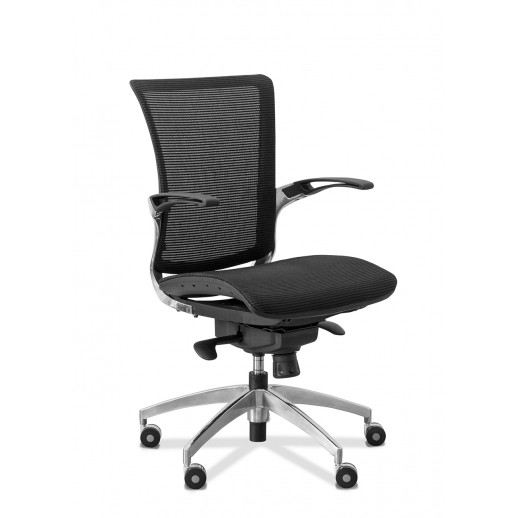 Кресло для персонала C80 (каркас черный) сетка / черная