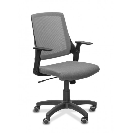Кресло персонала Флай сетка/ткань TW / черная/черная