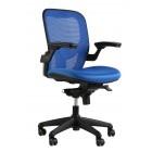 Кресло для персонала Tipo сетка/ткань / синяя
