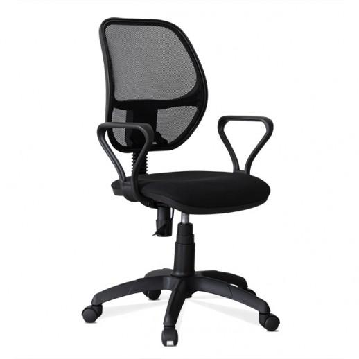 Офисное кресло Марс сетка/ткань / черная/ серая