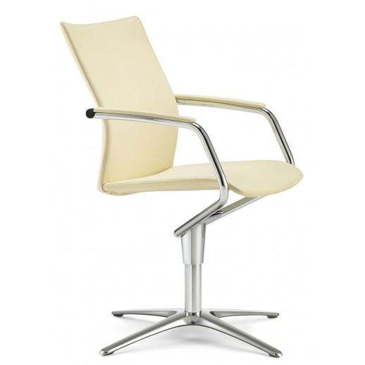 Кресло посетителя Ciello натуральная кожа / белая 4807