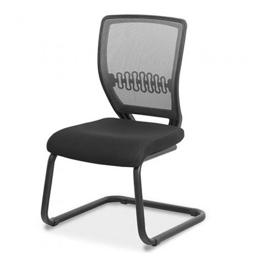 Кресло для посетителя Аспект на раме сетка/ткань TW / синяя/синяя