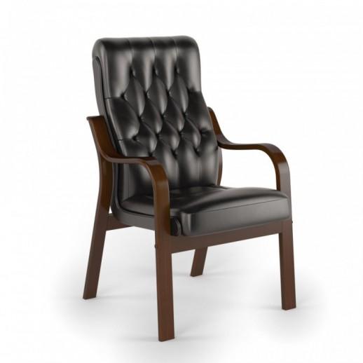 Кресло посетителя Боттичелли экокожа / черная