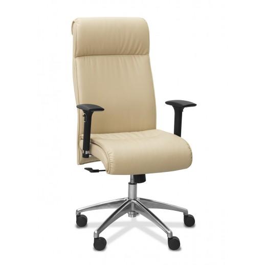 Кресло руководителя Dark экокожа подлокотники 3D экокожа / черная