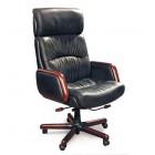 Кресло Атлет СН 417 натуральная кожа / черная