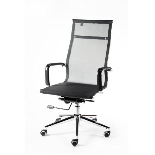 Кресло руководителя Rover сетка / черная