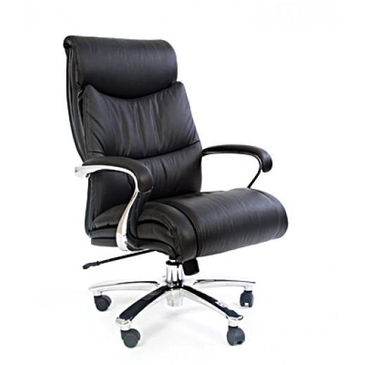 Кресло руководителя CH 401 натуральная кожа / черная