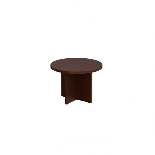 Стол для переговоров круглый темный дуб