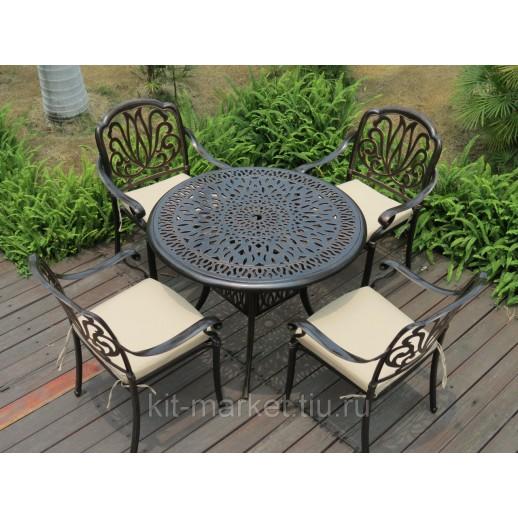 Мебель из металла с круглым столом 90 см Palermo 4