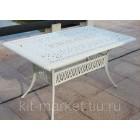 Белая мебель из литого алюминия Rimini 6 Big white
