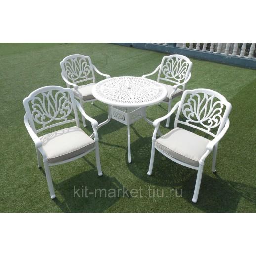 Белая мебель из литого алюминия Palermo 4 white
