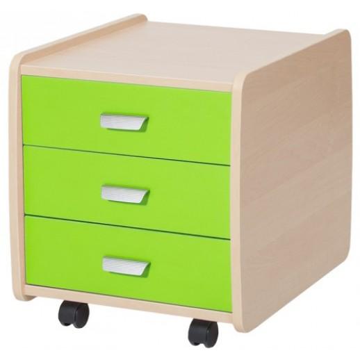Тумба Лидер на 3 ящика с цветными фасадами