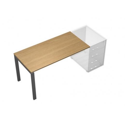 Стол письменный без опоры (тумбы приставной левой/правой) дуб гальяно/антрацит