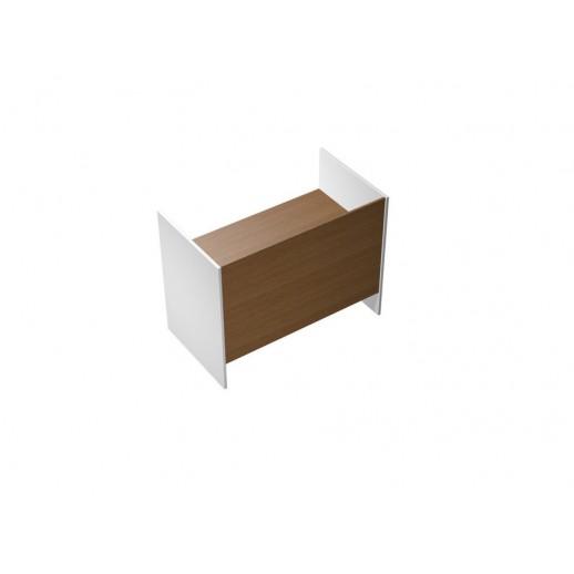 Стол письменный на высоких опорах ДСП орех ногаро/белый премиум