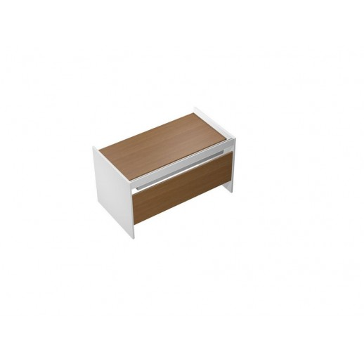 Стол письменный на опорах ДСП c ProSystem орех ногаро/белый премиум