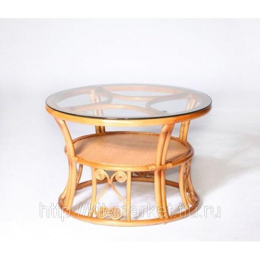 Круглый стол из ротанга