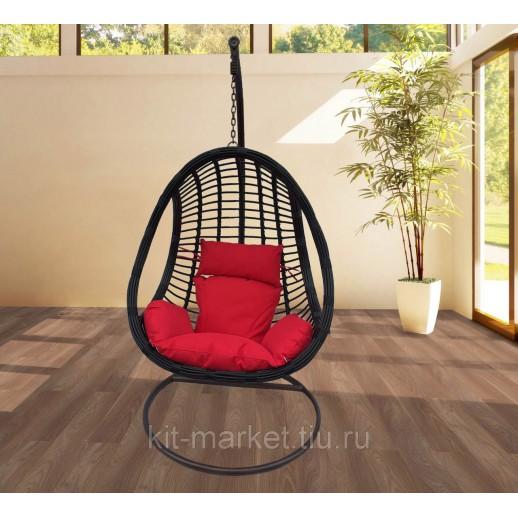 Плетеное подвесное кресло из ротанга
