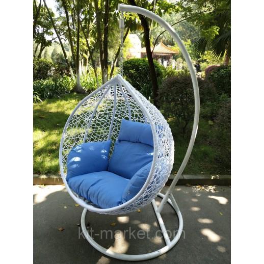 Подвесное кресло из ротанга Белый