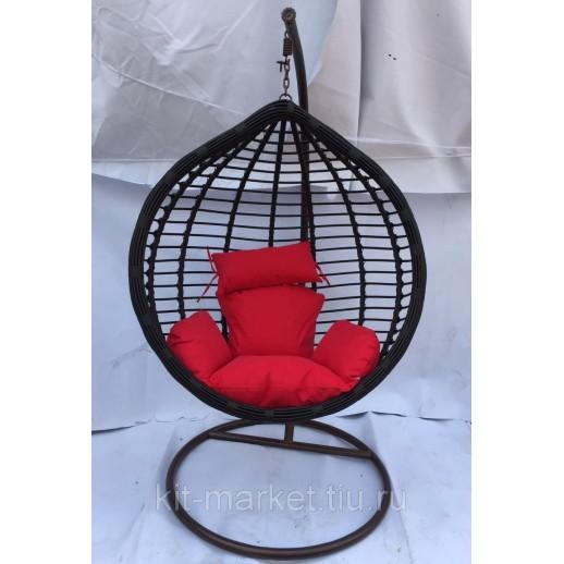 Черное подвесное кресло Bamboo 13