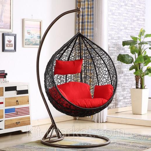 Подвесное кресло кокон Черный