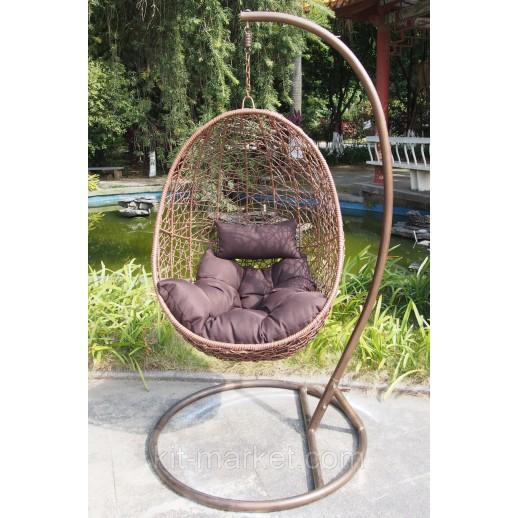 Подвесное кресло на балкон Коричневый