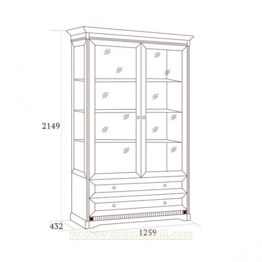 Шкаф двухдверный для посуды