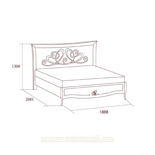 Виола беж - Кровать без ножной спинки