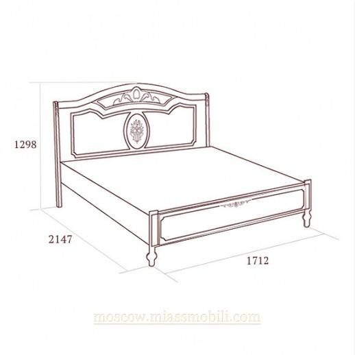 Флориана беж - Кровать без ножной спинки