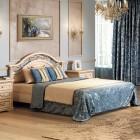 Двуспальная кровать 1600x2000, вариант №1 без ножной спинки Джоконда крем