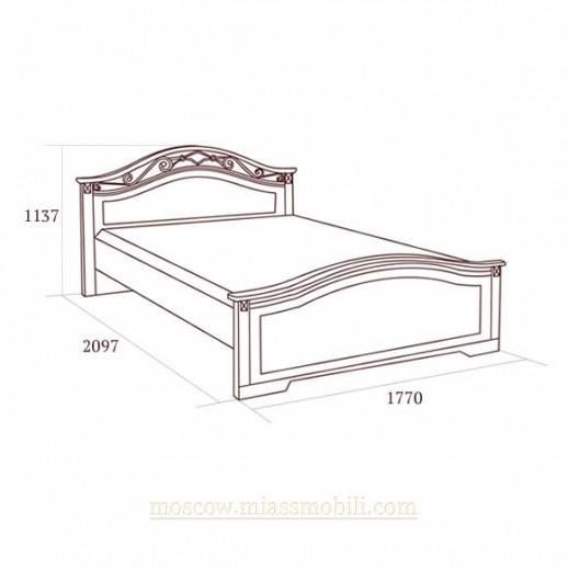 Джоконда орех - Двуспальная кровать, вариант №1