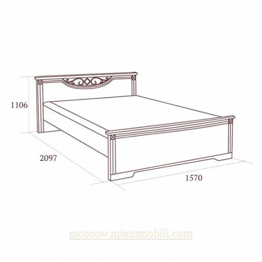 Джоконда орех - Кровать 1400x2000, вариант №2