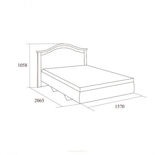 Екатерина крем- Кровать без ножной спинки