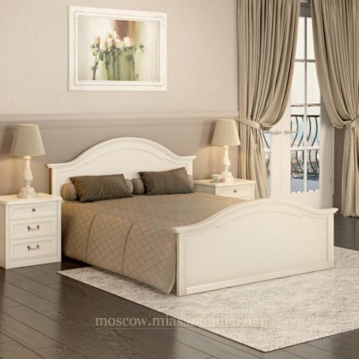 Екатерина крем - Кровать с ножной спинкой