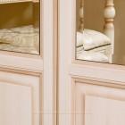 Джоконда крем Шкаф 4-дверный для платья и белья