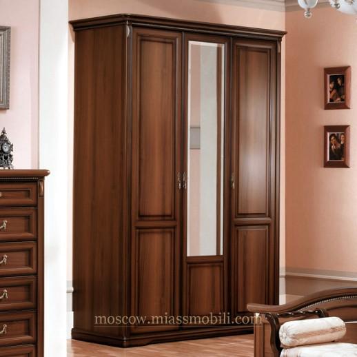 Джоконда орех Шкаф 3-х дверный для платья и белья