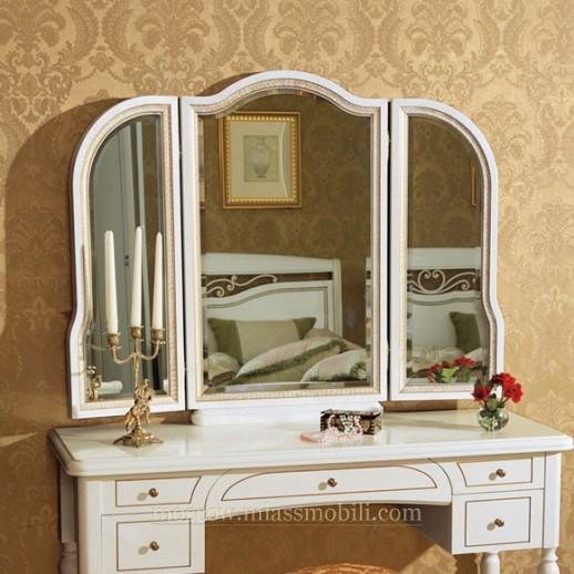 Луиджи белая Зеркало для стола туалетного
