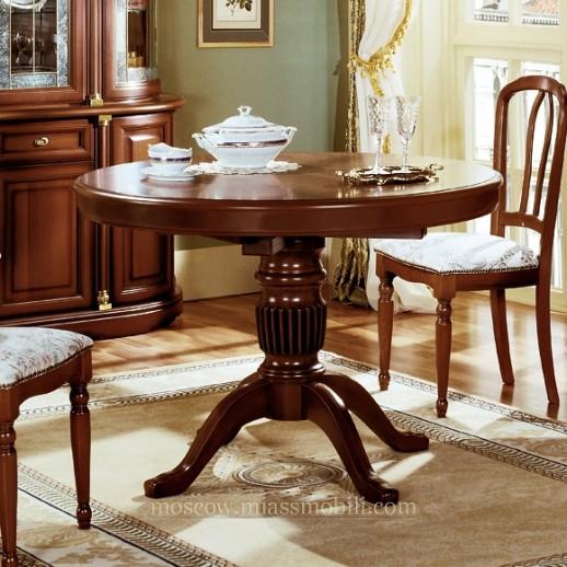 Стол обеденный с круглой крышкой Анна орех