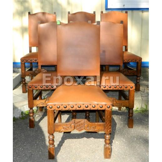 Комплект из 6 стульев середины ХХ века